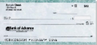 Green marble personal check