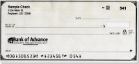 Tan parchment personal check